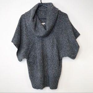 Ruby Moon Grey Short Sleeve Cowl Neck Sweater